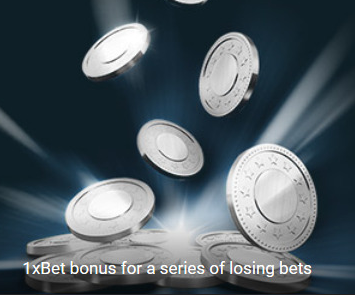 1xbet losing bets bonus